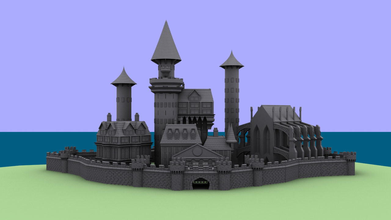 Castle From 'The Balloon Catcher'—Untextured