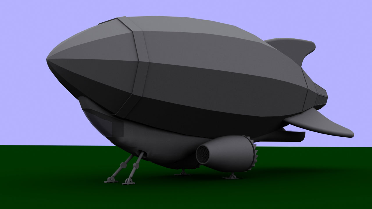 Zeppelin from 'The Balloon Catcher'—Untextured